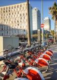 Barcelona city bikes Stock Images