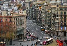 Barcelona city centre Royalty Free Stock Images