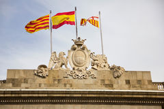 Barcelona City Hall. It is a public authority with political responsibility in the city of Barcelona, Spain royalty free stock photos
