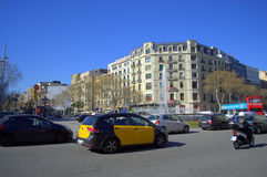 Barcelona city intersection Royalty Free Stock Photography