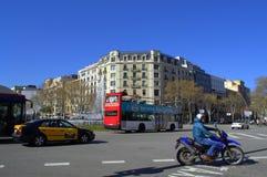 Barcelona city intersection Stock Photo