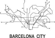 Barcelona Subway Map.Barcelona City Map Stock Vector Illustration Of Cape 113567074