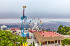 Barcelona city from mountain. Royalty Free Stock Image