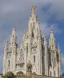Barcelona, Spain - October 15, 2017. Expiatorio Temple of the Sacred Heart of Jesus is a church located in the mountain of the Tib stock photo
