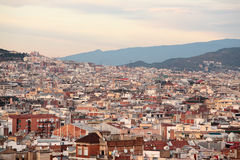 Barcelona City Overview Royalty Free Stock Photo