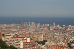 Barcelona city overview Royalty Free Stock Photography