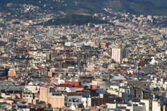 Barcelona city overview roofs. Panoramic overview of Barcelonas Urban density royalty free stock images