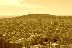 Barcelona city panorama Royalty Free Stock Photos
