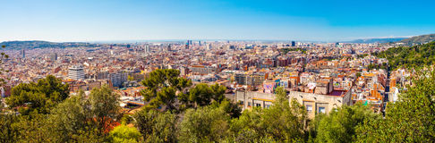 Barcelona City Panorama Royalty Free Stock Images