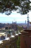 Barcelona city Park Guell Royalty Free Stock Photo