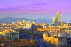 Barcelona city scenic view Royalty Free Stock Photos