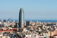 Barcelona city skyline and office Royalty Free Stock Images