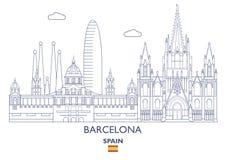 Barcelona City Skyline, Spain Stock Photo