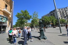 Tree, public, space, pedestrian, city, neighbourhood, town, square, urban, area, downtown, street, sky, plaza, plant, recreation,. Photo of tree, public, space stock photography