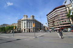 Barcelona city street view Royalty Free Stock Photos
