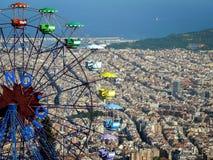 Barcelona city from the Tibidabo (Catalonia, Spain) Royalty Free Stock Photo