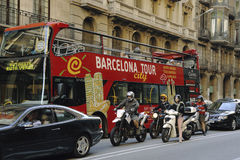 Barcelona city tour Stock Photography