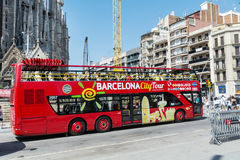 Barcelona City Tour Bus Royalty Free Stock Image