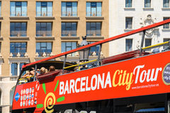 Barcelona City Tour Bus Stock Image