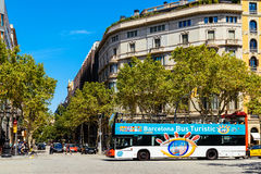 Barcelona City Tour Bus Royalty Free Stock Images