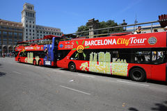 Barcelona City Tour Royalty Free Stock Photo