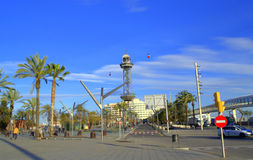 Barcelona city view Royalty Free Stock Photos