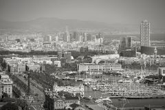 Barcelona city view Stock Photos