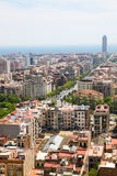 Barcelona city view from Sagrada Familia, Barcelona Royalty Free Stock Photos