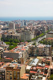 Barcelona city view from Sagrada Familia tower, Barcelona Stock Image