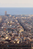Barcelona city view, Spain. Barcelona city view from distance. Barcelona, Spain Royalty Free Stock Images