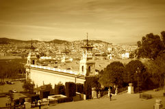 Barcelona city view, Spain Royalty Free Stock Images