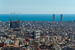 Barcelona, city View. Royalty Free Stock Photography