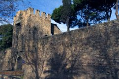 Barcelona City Walls Royalty Free Stock Images