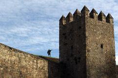 Barcelona City Walls Stock Images