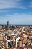 Barcelona.Cityscape в солнечном дне стоковые фотографии rf
