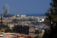 Barcelona cityscape Arkivbilder