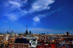 barcelona cityscape Fotografering för Bildbyråer