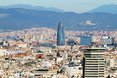 Barcelona cityscape Stock Photography