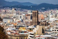 Barcelona Cityscape Royalty Free Stock Photography