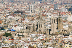 Barcelona cityscape Royalty Free Stock Photos