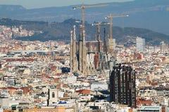 Barcelona cityscape distant view Stock Photos