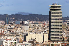 Barcelona Cityscape from Miramar. Montjuic, Barcelona, Spain Stock Images