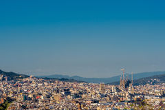Barcelona cityscape overlook Stock Image