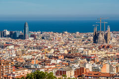 Barcelona cityscape overlook Royalty Free Stock Photography