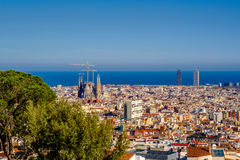Barcelona cityscape overlook Stock Photography