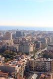 Barcelona cityscape seen from Sagrada Familia tower Royalty Free Stock Photography