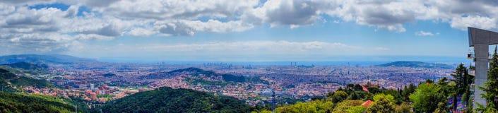 Barcelona Cityscape Royalty Free Stock Photos