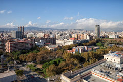 Barcelona Cityscape in Spain Royalty Free Stock Photography