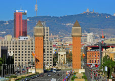 Barcelona cityscape. The Spanish square Stock Photo