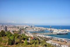 Barcelona Cityscape Stock Image
